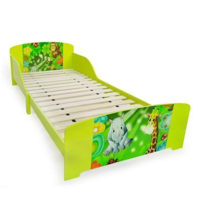 Gyermek ágykeret 90x200, dzsungel, zöld - JUNGLE